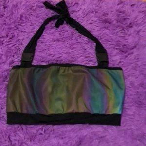Rolita couture reflective bandeau buckle top!